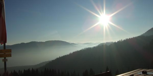Nachmittagssonne an der Gaudeamushütte
