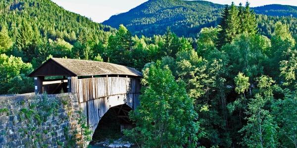 Covered wood bridge