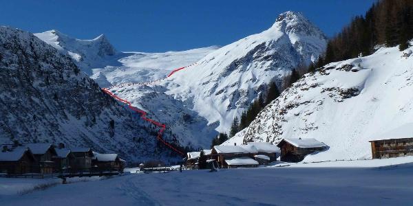 Winteraufstieg zur Neuen Prager Hütte
