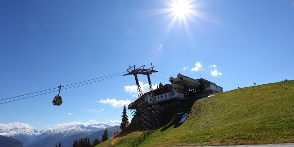 Mountain station of the cable cars