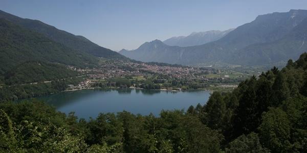 Panorama dal forte di Tenna sul Lago di Levico