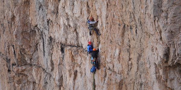 Kletterer am Campanile Basso