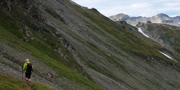 Wellige Hangquerung zur Hagener Hütte