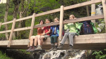 Randonnée en famille dans le Weisstannental