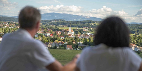 Burgthannerweg Panoramablick vom Apfelgarten
