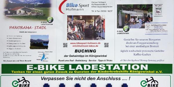Schild e-bike Ladestation