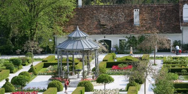 Die Gartenanlage im Schloss Herberstein