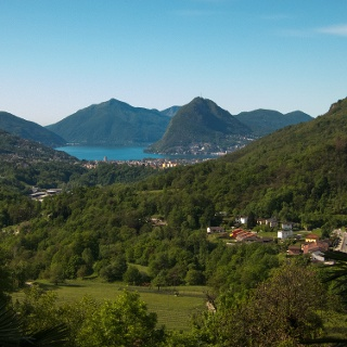 The view to Lago Lugano shortly after leaving Tesserete