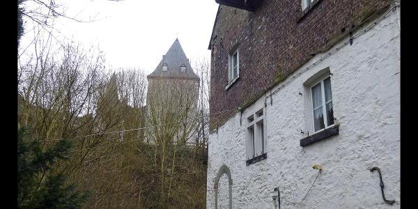 Mühle und Bergfried von Schöller, Wuppertal, Bergisches Land, NRW, Deutschland