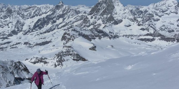am Westgratrücken mit Matterhornblick