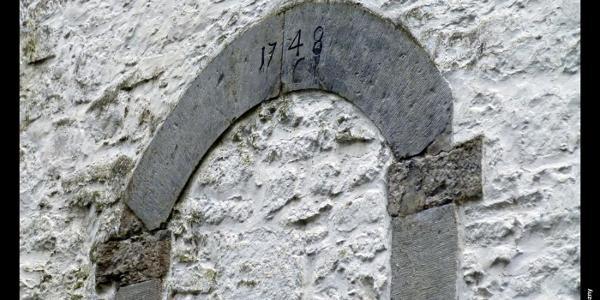 Jahreszahl am alten Eingang in die Mühle in Schöller, Wuppertal, Bergisches Land, NRW, Deutschland