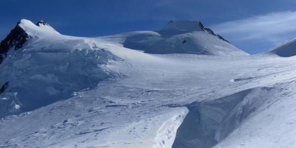 Zumsteinspitze und Signalkuppe aus dem oberen Becken