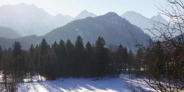 Blick auf die Tannheimer-Berg