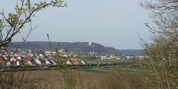 Blick auf Kelheim und die Befreiungshalle auf dem Michelsberg