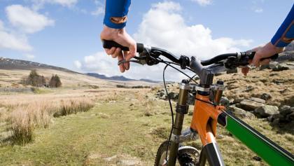 Fahrrad im Gelände