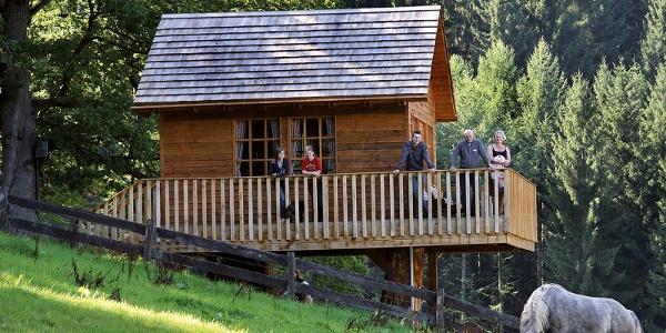 Baumhaus auf dem Gelände des Hotels Gut Vorwald