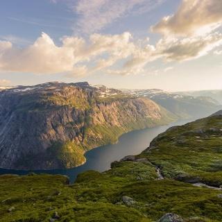 Evening mood in Norway