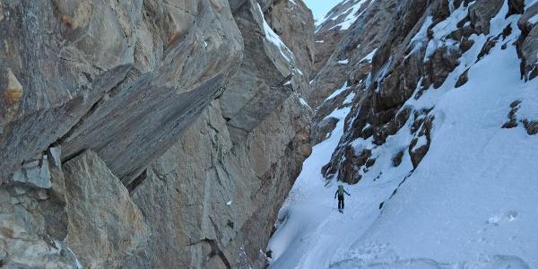 Spannend: Dieser Canyon führt zum Gurgler Ferner
