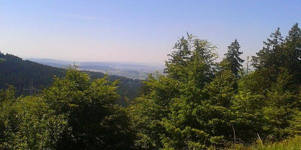 Blick Richtung Nordwesten vom höchste Punkt der Strecke