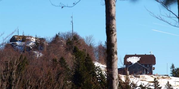Schobersteinhütte von Westen gesehen