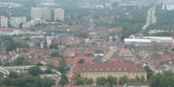 Durlach und Karlsruhe Stadtansicht vom Turmberg