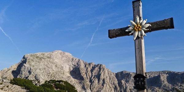 Gipfelkreuz Kehlstein vor Hohem Göll