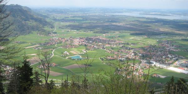 Blick von der Schnappenkirche auf Grassau