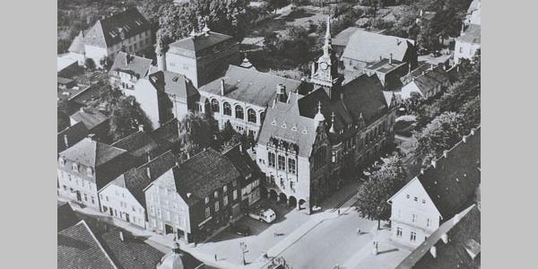 Hist. Postkarte Marktplatz Bückeburg