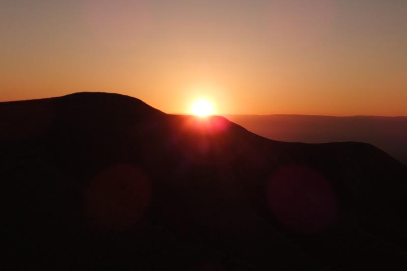 Sonnenaufgang in der Judäischen Wüste