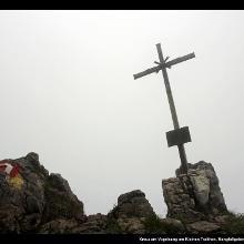 Kreuz am Vogelsang am Kleinen Traithen, Mangfallgebirge, Bayern, Deutschland