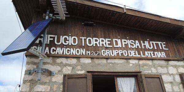 Das Rifugio Torre di Pisa