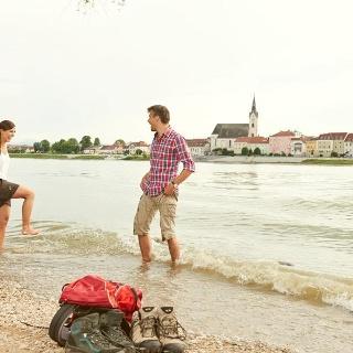 Abkühlung in der Donau bei Persenbeug-Gottsdorf