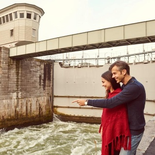 Schleuse bei Donaukraftwerk Ybbs-Persenbeug