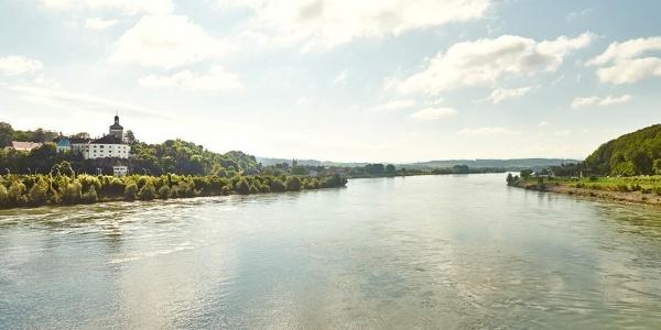Blick Richtung Persenbeug von Donaubrücke