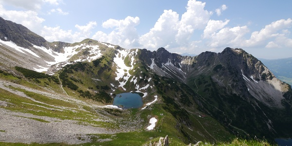 "View to the lake ""Oberer Gaisalpsee"""