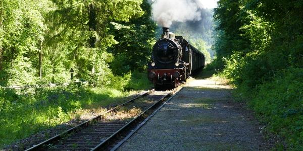 Einfahrt Haltepunkt Lausheim-Blumegg