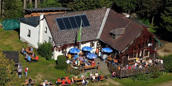 Braunberghütte aus der Luft