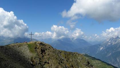 Blick vom Wannejöchl zum Gipfel der Glanderspitze.