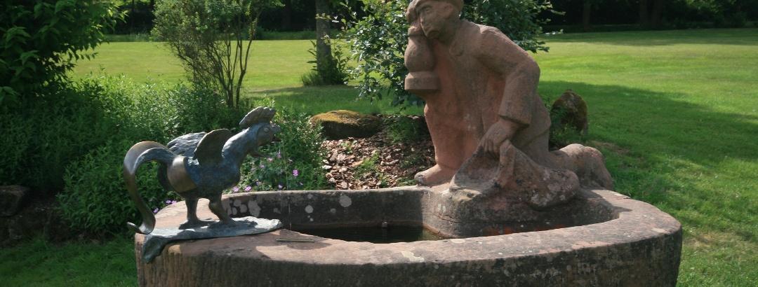 Elwetritschebrunnen im Dahner Kurpark