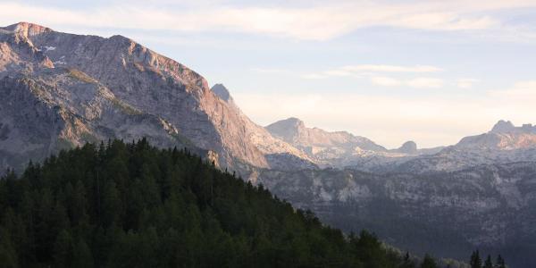 Alpenglühen an der Gotzenalm