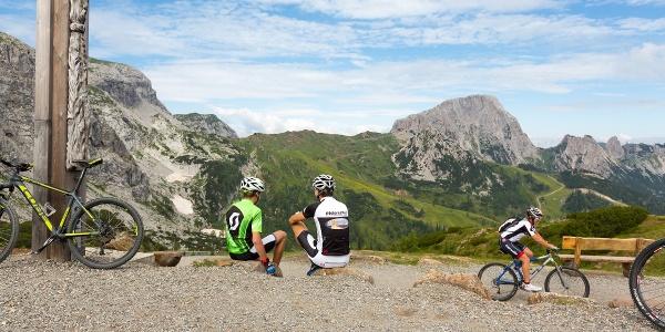 Traumhafte Aussicht vom Lift & Bike Giro am Nassfeld