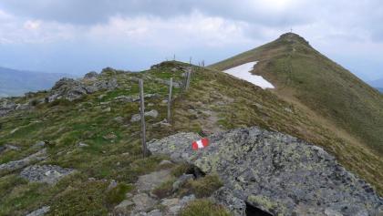 Die letzten Meter zum Stieleck, der höchsten Erhebung der Tour