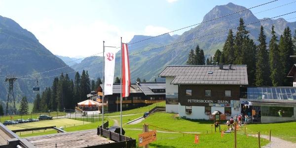 Bergbahn Oberlech - Start der Geocaching Tour in Lech