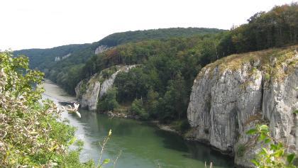 Blick von der Langen Wand auf die Donau
