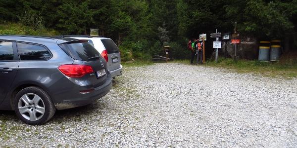 Parkplatz am Ausgangspunkt