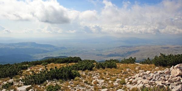View over Duvanjsko polje (field)