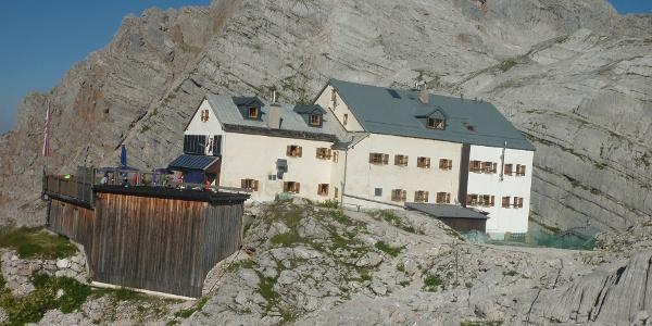 Riemannhaus mit Breithorn