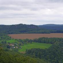 Aussicht von der Festung Königstein aus gesehen ...