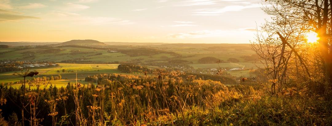 Die schöne Landschaft des Erzgebirges