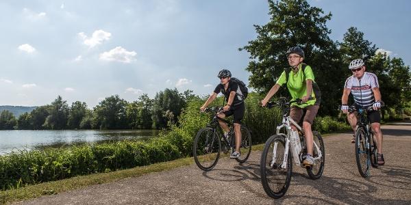 Radfahrer am Breitenauer See